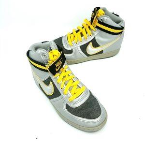 Nike vandal high sikver sneakers size 7